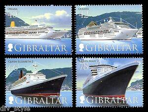 Cruise-Expedie-III-4-Timbres-MNH-2007-Gibraltar-Oceana-Oriana-QE2-QM2-1076-9