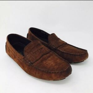 Cole-Haan-Air-Women-Loafers-Sz-8-Brown-Suede-Driving-Shoes-Comfort-Career