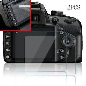 2x-9H-Hard-Tempered-Glass-Screen-Protector-Film-Fit-Nikon-D3200-D3300-D3400-SLR