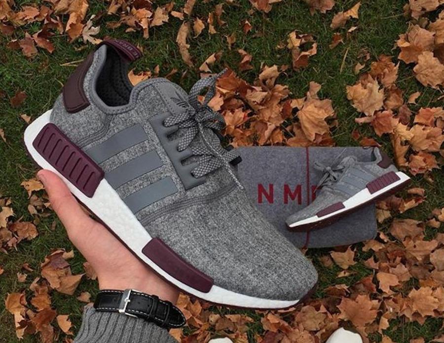 Los últimos zapatos de descuento para hombres y mujeres Barato y cómodo Adidas NMD RUNNER R1 gris/GRANATE cq0761 NUEVO, Todas Las Tallas