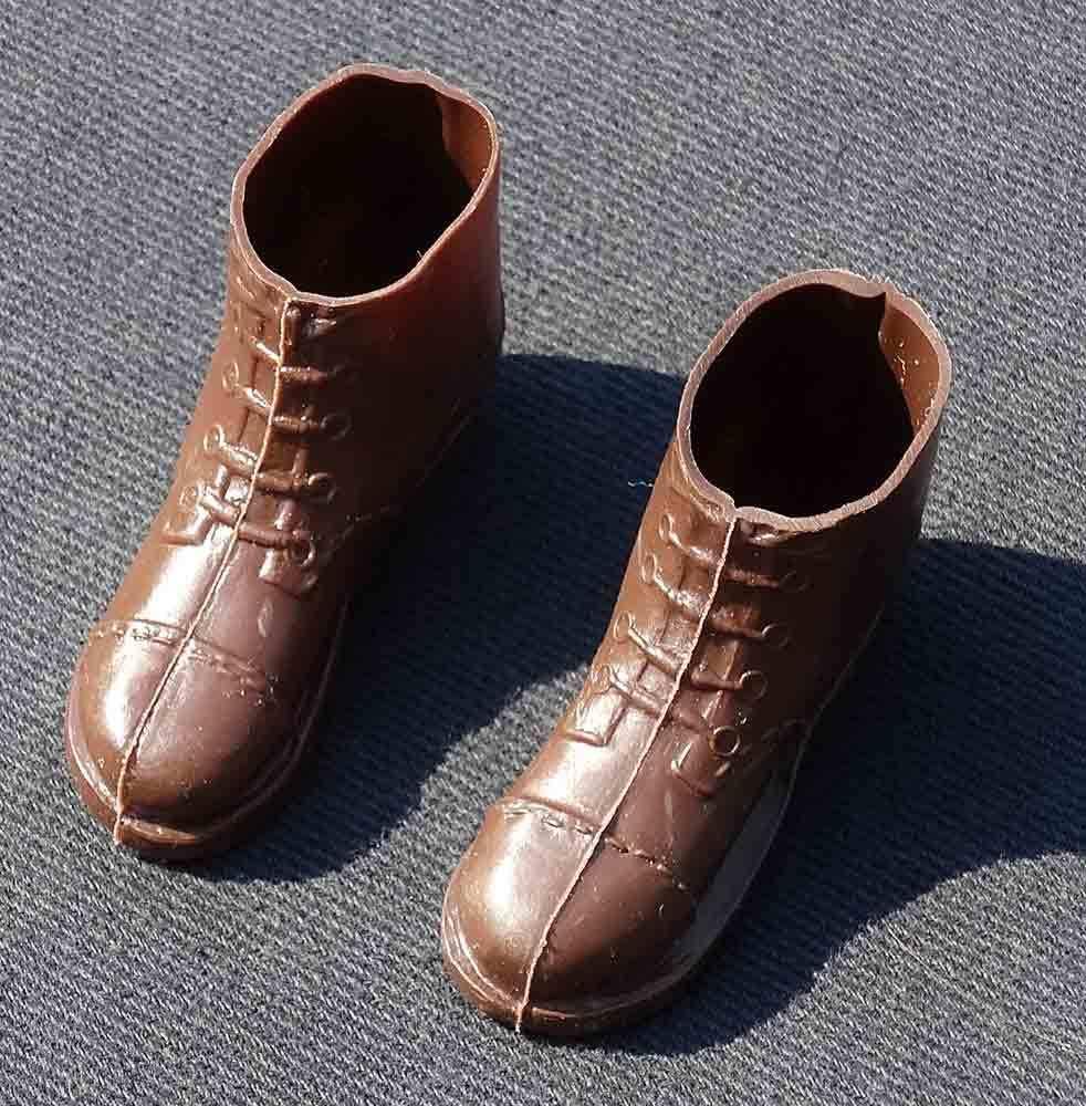 GI Joe AT Long Range Recon Short Brown Boots Clean 1975 Hasbro