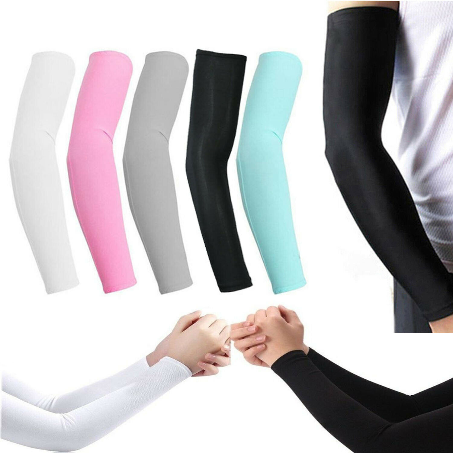 Running Arm Sleeves Cover Sun Protection Climbing Comfortable Cooling J4Y5