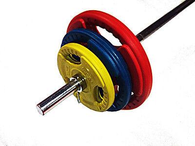 MORGAN pump barbell 7 PIECE 22.5 KG BODY & AEROBIC PUMP WEIGHTS SET PLATES
