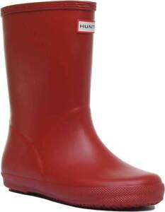 Kids Infants Red Rubber Boots Size UK