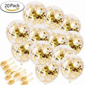20pcs-Golden-Paper-Confetti-Dots-Ballons-Party-Wedding-Anniversary-Decoration
