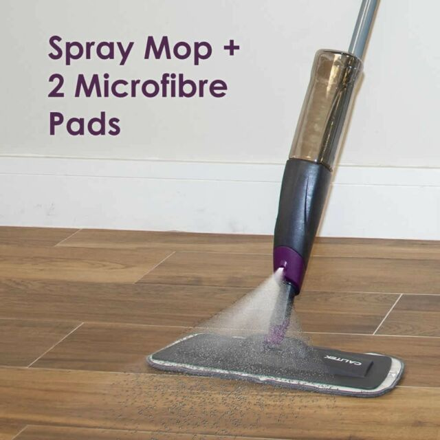 Calitek Floor Mop With Spray Plus 2 Reusable Microfibre Pads