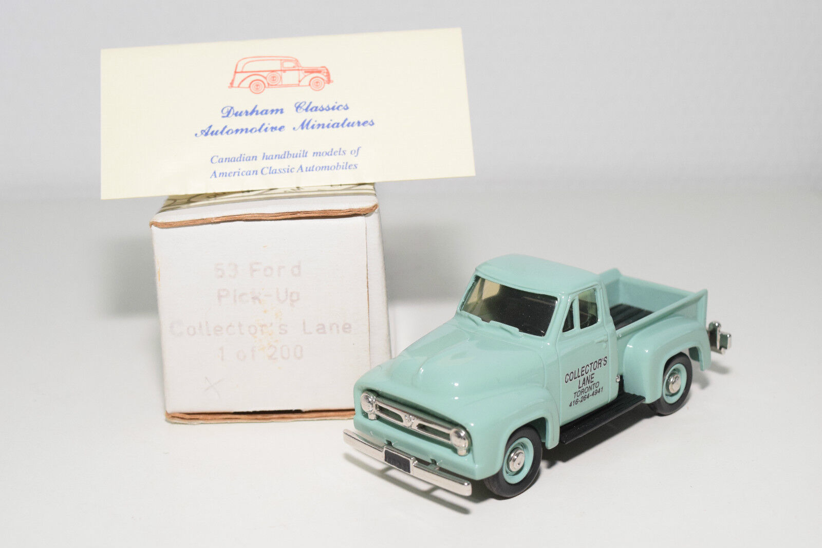 DURHAM DC-13 DC 13 FORD PICK UP COLLECTOR'S LANE MINT Verde MINT BOXED