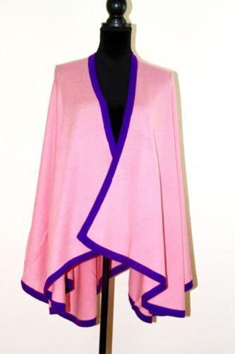 Cover di Cashmere Wrap Winter scialle Cape Poncho Serape Warm Travel Pashmina Pink YTn4wHq