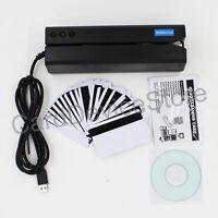 Usb Hico 3-track Magnetic Strip Credit Card Reader Writer Encoder Mag Magstrip