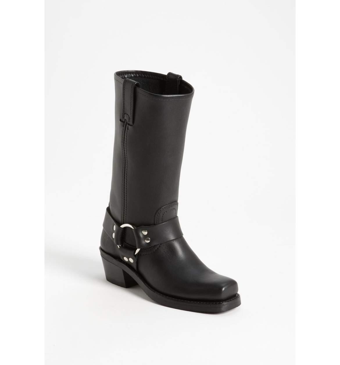 New sz 6 Frye Harness 12R Nero Nero Nero Pelle Tall Low Heel Stivali Shoes 3d36dc