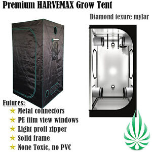 Image is loading HARVEMAX-HYDROPONICS-DIAMOND-MYLAR-GROW-TENT -1x1x2M-GROWROOM-  sc 1 st  eBay & HARVEMAX HYDROPONICS DIAMOND MYLAR GROW TENT 1x1x2M GROWROOM METAL ...