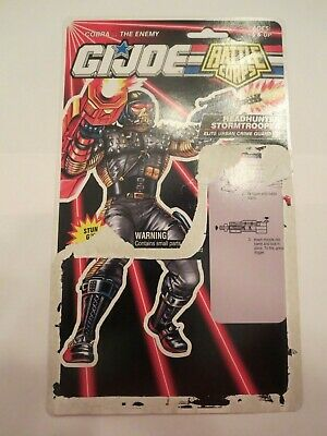 1993 Headhunter Stormtrooper Vintage Gi Joe Full Cardback Filecard Seien Sie In Geldangelegenheiten Schlau