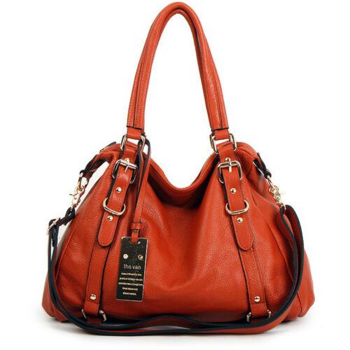 New leather HandBag Shoulder Women bag brown black hobo tote purse designer la98