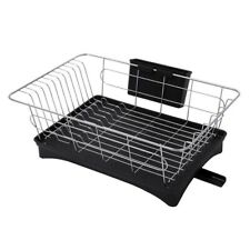Stainless Steel Dish Drainer Drying Rack With 3-Piece Set Removable Rust P U7K4