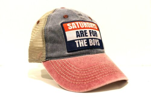 New Saturday/'s Are for the Boys Trucker Banner Flag Style Baseball Hat #SAFTB