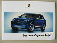 Prospekt Porsche Cayenne Turbo S 4,5 521 PS 9PA Modell 2006 deutsch