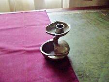 Antique Brass orb Candleholder signed bottom opens incense burner