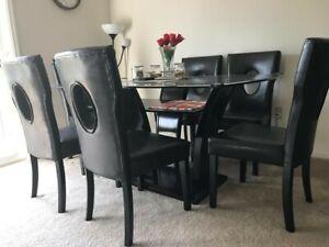 Poundex Furniture 7 Pc Dining Table Set Ebay