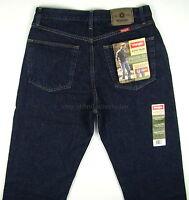 Wrangler Jeans REGULAR FIT New Mens Size 32 x 34 RINSE (Dark Blue) Straight Leg