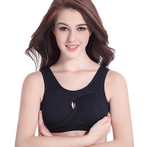 Donne Lady Senza Cuciture Push Up Reggiseno Sportivo Top Canotta Palestra Fitness Yoga Corsa Shaper