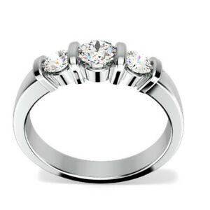 0-86-Ct-Diamond-Engagement-Ring-14K-Solid-White-Gold-Wedding-Rings-Size-5-6-7-8