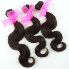 3 Bundles 12inch Brazilian Virgin Hair weave Body Wave Human Hair Extension Weft