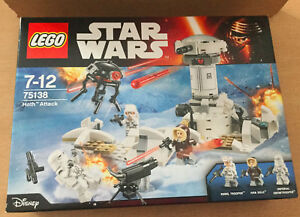 LEGO SET BOITE NEUF STAR WARS VAISSEAU 75138 HOTH ATTACK  PROB DROID HAN SOLO