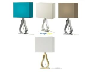 new ikea klabb modern table lamp shade polyester aluminum base