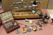 W D Clement Precision 10MM Watchmakers Lathe Swivel Base Antique & Collet Set