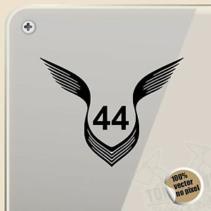 pegatina lewis hamilton 44 logo wings vinyl sticker decal aufkleber autocollant ebay