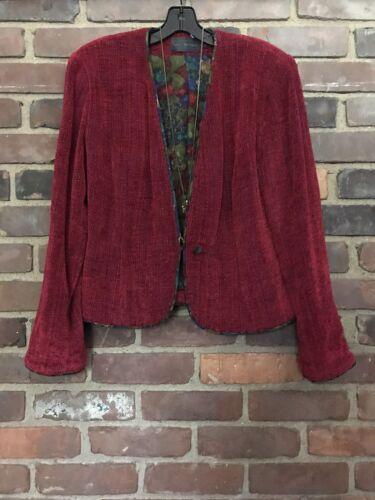 LYNN YARRINGTON chenille blazer coat jacket Small