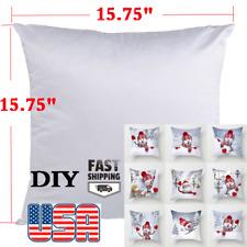 Us 50pack Blank Plain White Sublimation Pillow Case Fashion Cushion Pillow Cover