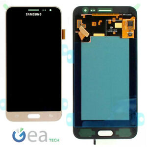 SAMSUNG-Display-Schermo-LCD-Originale-Per-Galaxy-J3-2016-J320FN-Touch-Oro-Gold