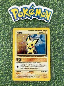 Pokemon-2000-Pichu-Holo-12-111-Neo-Genesis-Nintendo-Wizards-card-Authentic