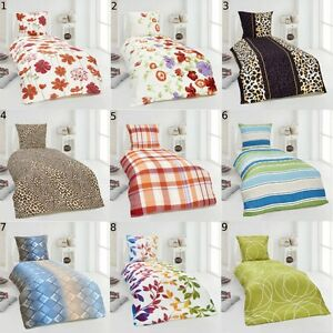 2 tlg moderne microfaser seersucker bettw sche 135x200 kissenbezug 80x80 ebay. Black Bedroom Furniture Sets. Home Design Ideas