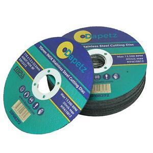 (Pack de 10) 115 mm x 1.2 mm Fine en métal disques coupe pour meuleuse d'angle inox