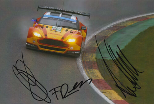 Rees, MacDowall, Stanaway Aston Martin Hand Signed 7x5 Photo 2015 Le Mans 10.