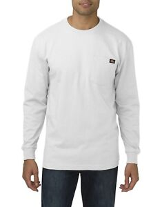 6fce5b8a5a8 Dickies Mens WHITE Long Sleeve Heavyweight Crew Neck T-Shirt WL450WH ...