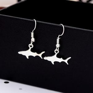 1 paire petit requin Stud mignon poisson baleine Argent Boucles d/'oreilles clous pour Beach Party