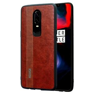 Case-Skin-Effect-OnePlus-6-Cover-Case-360-Thick-Shockproof-3D-Scalp-Marrone