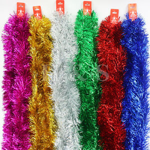 7ft-2-15m-Deluxe-Chunky-Christmas-Tinsel-Tree-Decoration-6-Colour-100mm-wide
