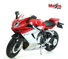 Maisto MV Agusta F3 Scale 1/12 Red-White Diecast Motorcycle Model M126