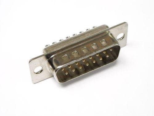 DB15 CONNETTORE D-SUB MASCHIO 15 PIN A SALDARE