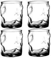 High Quality Fun Glasses Set 4 Drinking Cup Irish Cut Design Beaker Amazing Gift