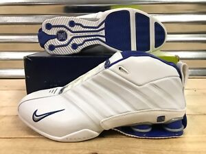 f6b55724dffc Nike Shox Supremacy 2002 Retro Shoes VC White Royal Blue SZ 12 ...
