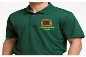 WORLD WAR II RIBBON 102ND INFANTRY DIVISION*EMBROIDERED POLO SHIRT/SWEAT/JACKET.
