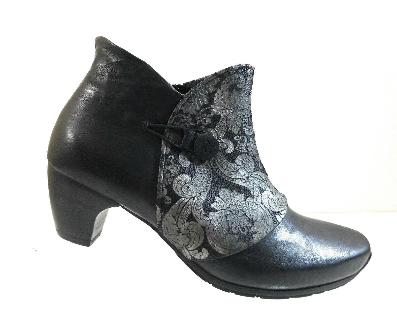 spedizione e scambi gratuiti. Think Think Think  donna nero Leather Heeled Ankle Floral Zip Up Fashion avvioies Sz 41  buona reputazione
