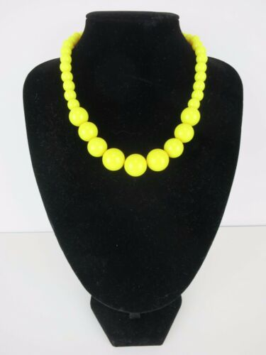 Gumball Necklace 50s Rockabilly PinUp Costume Bead Beads Retro Butter Sun Yellow
