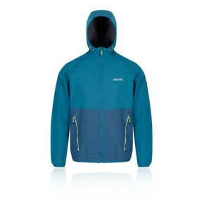 Regatta-Mens-Arec-II-Softshell-Jacket-Top-Blue-Sports-Outdoors-Hooded-Windproof