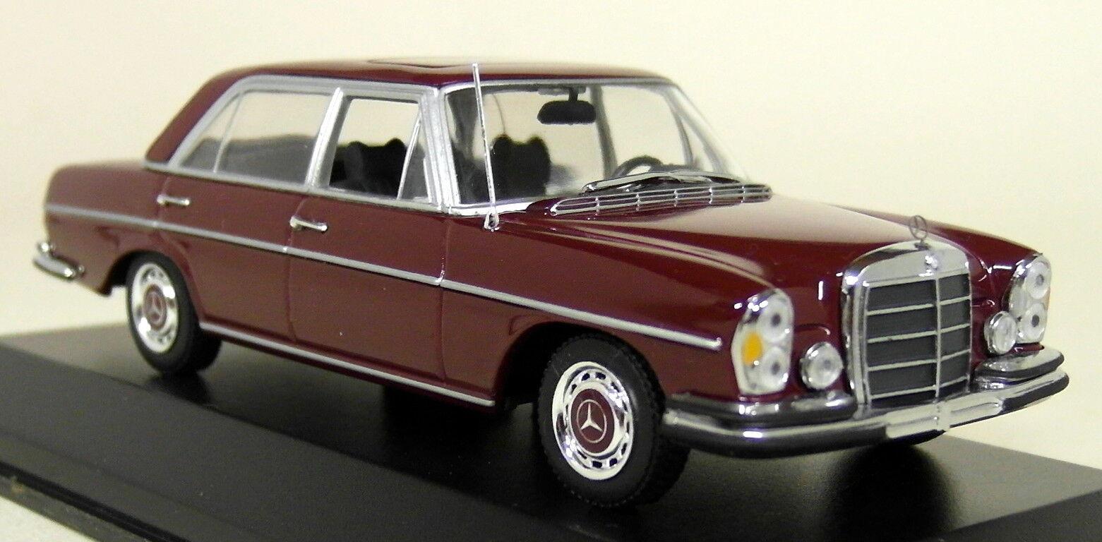 MINICHAMPS 1 43 Scale 430 039102 MERCEDES 300 SEL 6.3 1968-72 rouge Diecast Car